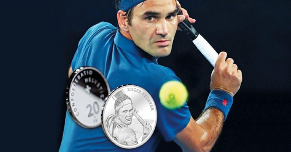 โรเจอร์ เฟเดอเรอร์ ยอด นักเทนนิส อันดับหนึ่งของโลกได้รู้สึกตื้นตันใจสุดขีดเมื่อได้รับเกียรติให้มีรูปตัวเองอยู่บนเหรียญกษาปณ์ที่ระลึกของประเทศบ้านเกิด