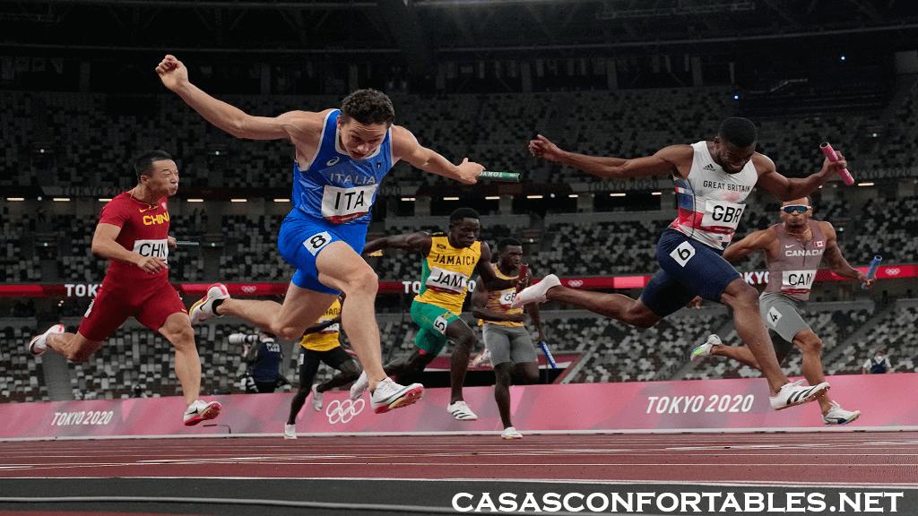 Italy and Jamaica อิตาลีปิดท้ายสัปดาห์ประวัติศาสตร์ในวันศุกร์ด้วยการคว้าเหรียญทองช็อตวิ่งผลัดของผู้ชาย ขณะที่แคนาดาคว้า Italy and Jamaica